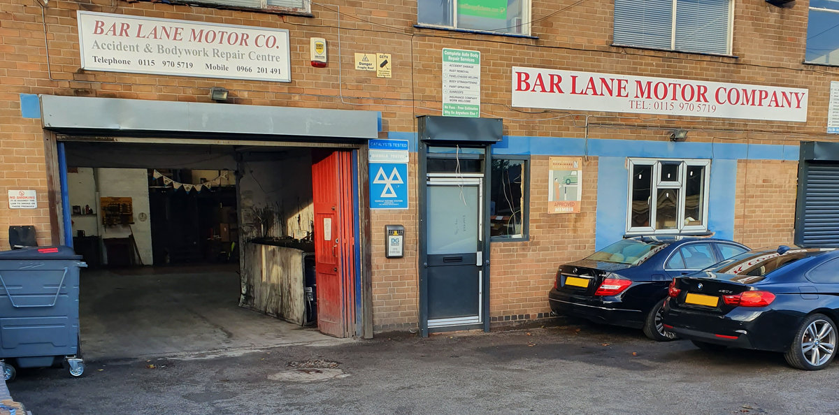 Front of Bar Lane Motors - Car Servicing & MOT Basford, Nottingham